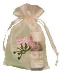 Lavender Flower Embroidered Organza Bag