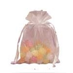 White Flat Organza Bag