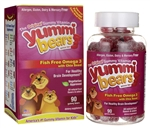 Hero Nutritonals - Yummi Bears Fish Free Omega 3 with Chia Seed 90 Gummy Bears