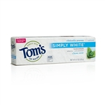 Tom's of Maine- Simply White- Clean Mint Toothpaste 4.7 oz