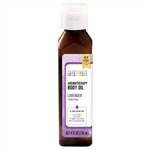 Aura Cacia Relaxing Lavender, Aromatherapy Body Oil, 4 oz. bottle