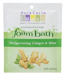 Aura Cacia Invigorating Ginger & Mint Foam Bath 2.5 oz.