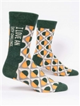 I Love An Easy Challenge W-Crew Socks by Blue Q