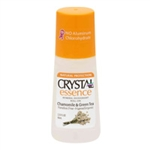 Crystal Essence Mineral Deodorant Roll-On - Chamomile and Green Tea