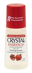 Crystal Essence Mineral Deodorant Roll-On - Pomegranate