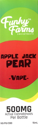 Apple Jack Pear CBD Vape Juice by Funky Farms (500mg)