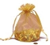 Gold Draw String Bag - 5 x 8
