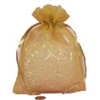 Gold Heavy Textured Organza Bag