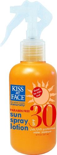 Kiss my face sun spray lotion