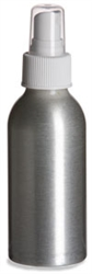 4 oz (120 ml) Aluminum Bottle with White Atomizer