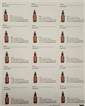 Directly From Nature Bach Flower Mixing Bottle Labels (15 labels)