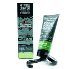 Activated Charcoal Floride-Free Toothpaste 4oz by My Magic Mud - Wintergreen