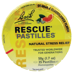 Rescue Pastilles  - Orange Elderflower Flavor 50g