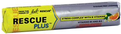 RESCUE PLUS Lozenges. Stress Complex with B Vitamins - Natural Orange & Elderflower Flavor