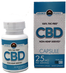 CBD Oil- Non-Hemp Derived 30 Caps - 25mg CBD Oil Each - SourcePure