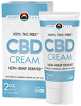CBD CREAM- Non-Hemp Derived CBD Cream 2oz - SourcePure