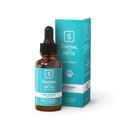 Pets Unflavored Broad Spectrum CBD Drops - 750mg